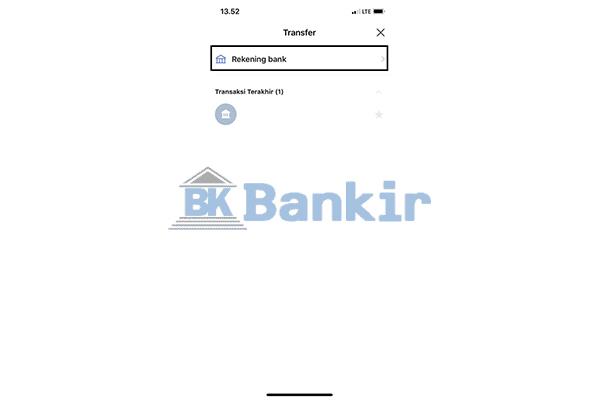 Klik Rekening Bank 1
