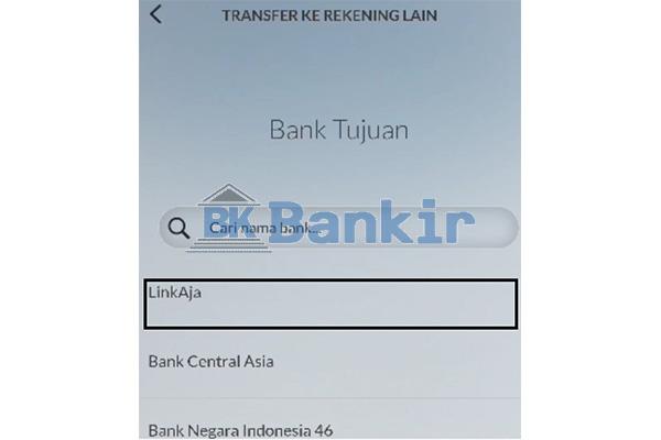 Pilih Bank Penerima