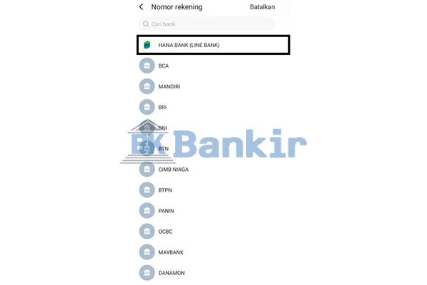 Pilih Hana Bank