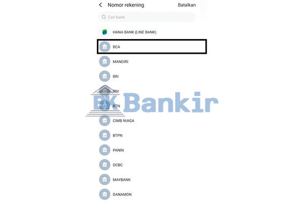 Tentukan Bank Tujuan 1