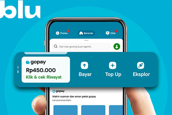Batas Minimal Maksimal Top Up GoPay via Blu BCA