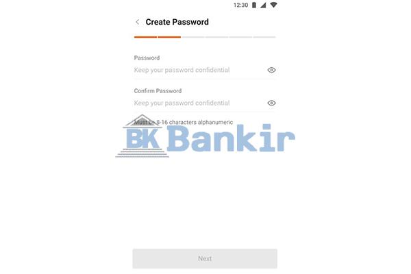 Buat Password Akun