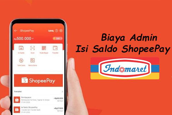 Ketentuan Biaya Admin Top Up ShopeePay di Indomaret