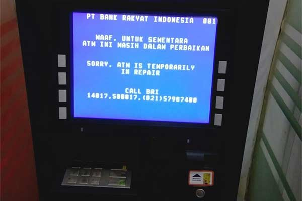 Mesin ATM Sedang Dalam Perbaikan