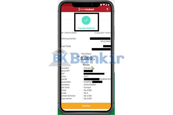 Bayar PBB P2 via BRK Mobile Berhasil