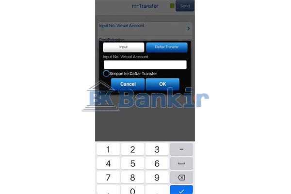 Input Nomor Virtual Account Top Up GoPay