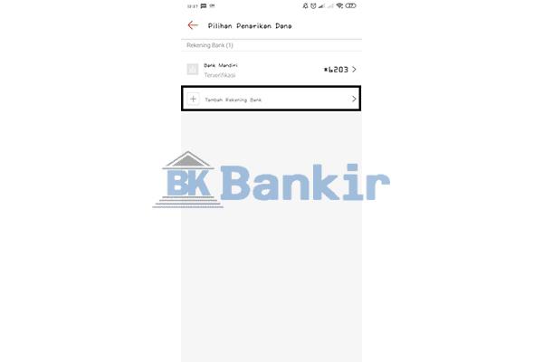 Ketuk Tambah Rekening Bank