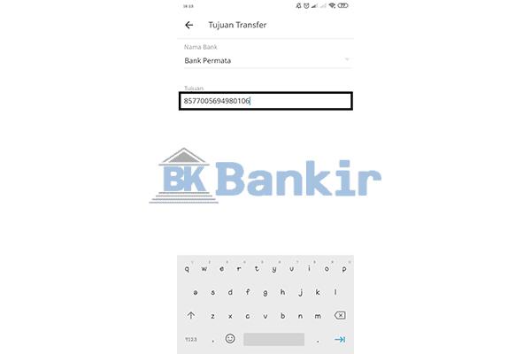 Masukkan Nomor Rekening Virtual Account