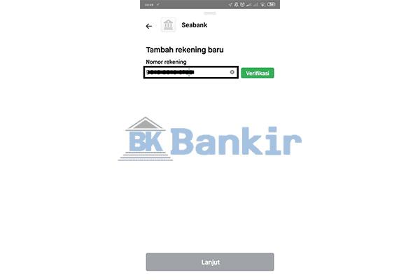 Masukkan Nomor Rekening SeaBank