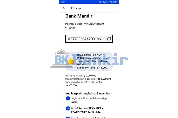 Salin Nomor Rekening Virtual Account