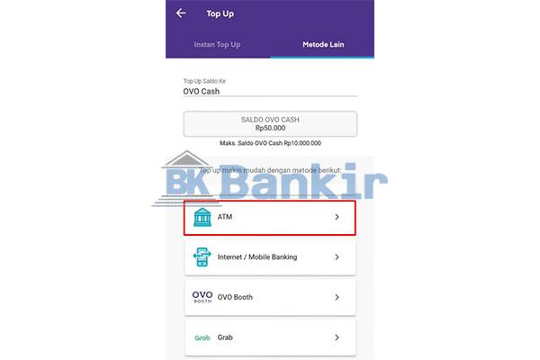 Gunakan Metode Top Up via ATM
