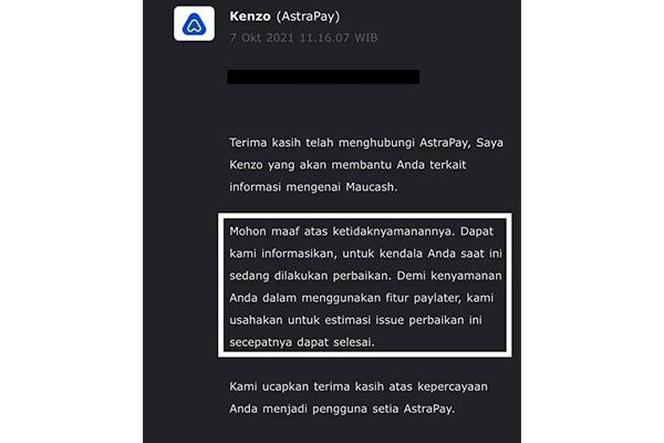 Penyebab Gagal Sinkronisasi Akun AstraPay